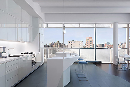 Perry Street Condo is a luxury building in the West Village of Manhattan