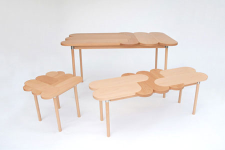 Moku+ solid wood furniture collection inspired by children's puzzle game